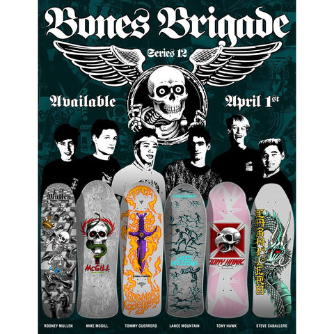Powell Peralta Bones Brigade Series 12 Full Set - 6 Boards