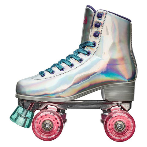Impala Sidewalk Holographic Rollerskates w Pink Light Up Wheels