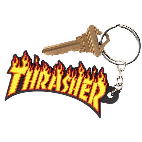 Thrasher Flame Key Ring