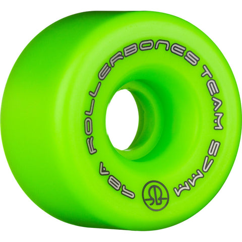 Rollerbones Team Logo Wheels 8 Pack Green 57mm