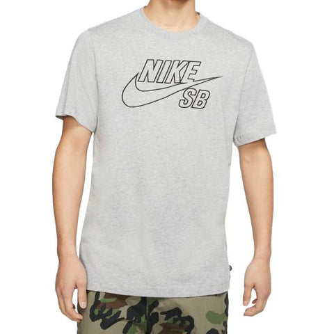 Nike SB Logo Tee Emboss  Dark Grey Heather / Black