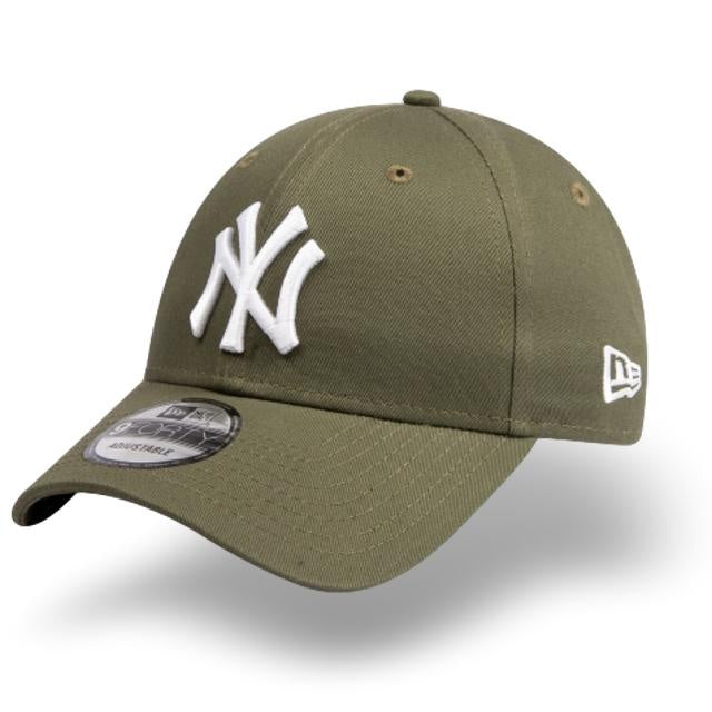 New Era 9Forty New York Yankees Adjustable Olive/White