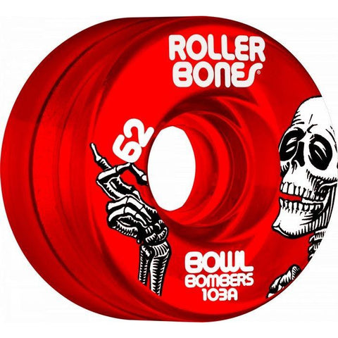 Rollerbones Bowl Bombers 57mm/101 A Red Clear 8 Pack