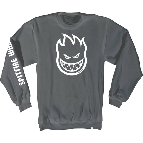 Spitfire Bighead Crew Heather Grey