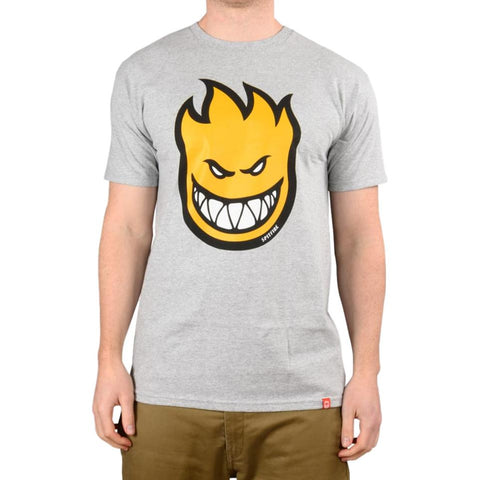 Spitfire Bighead Fill Tee Grey Heather / Yellow