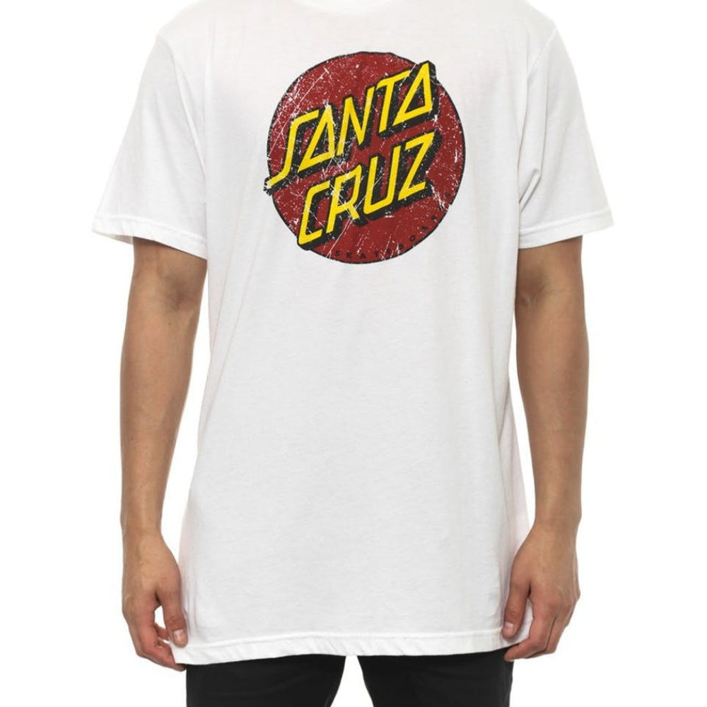 Santa Cruz Vintage Dot Acid Tee White