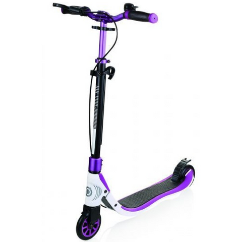 Globber One NL 125 Deluxe Scooter Titanium Purple / White