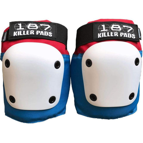 187 Fly Knee Pads Red/White/Blue