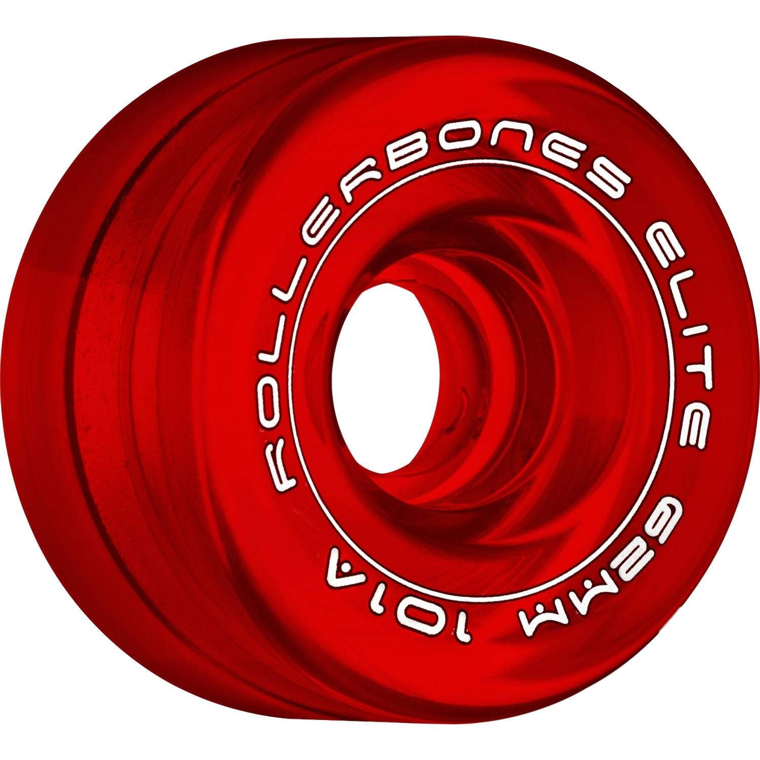 Rollerbones Wheels Art Elite Comp 62mm 8 Pack Red Clear
