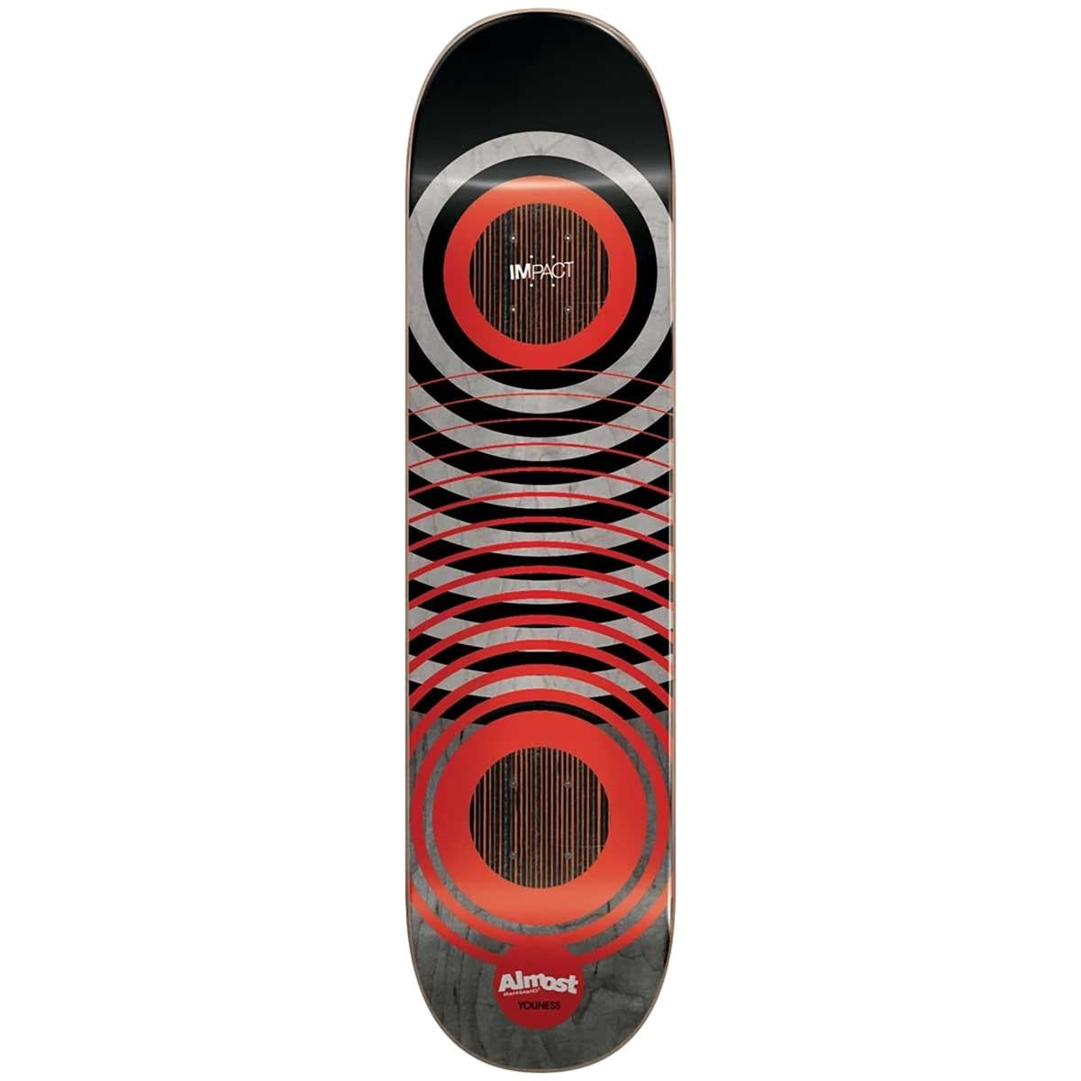 Almost Red Rings Impact Youness Skateboard Deck 8.25