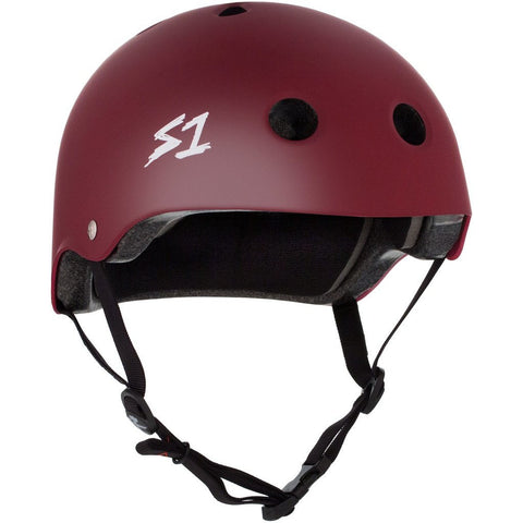 S-One Lifer Maroon Matte Helmet