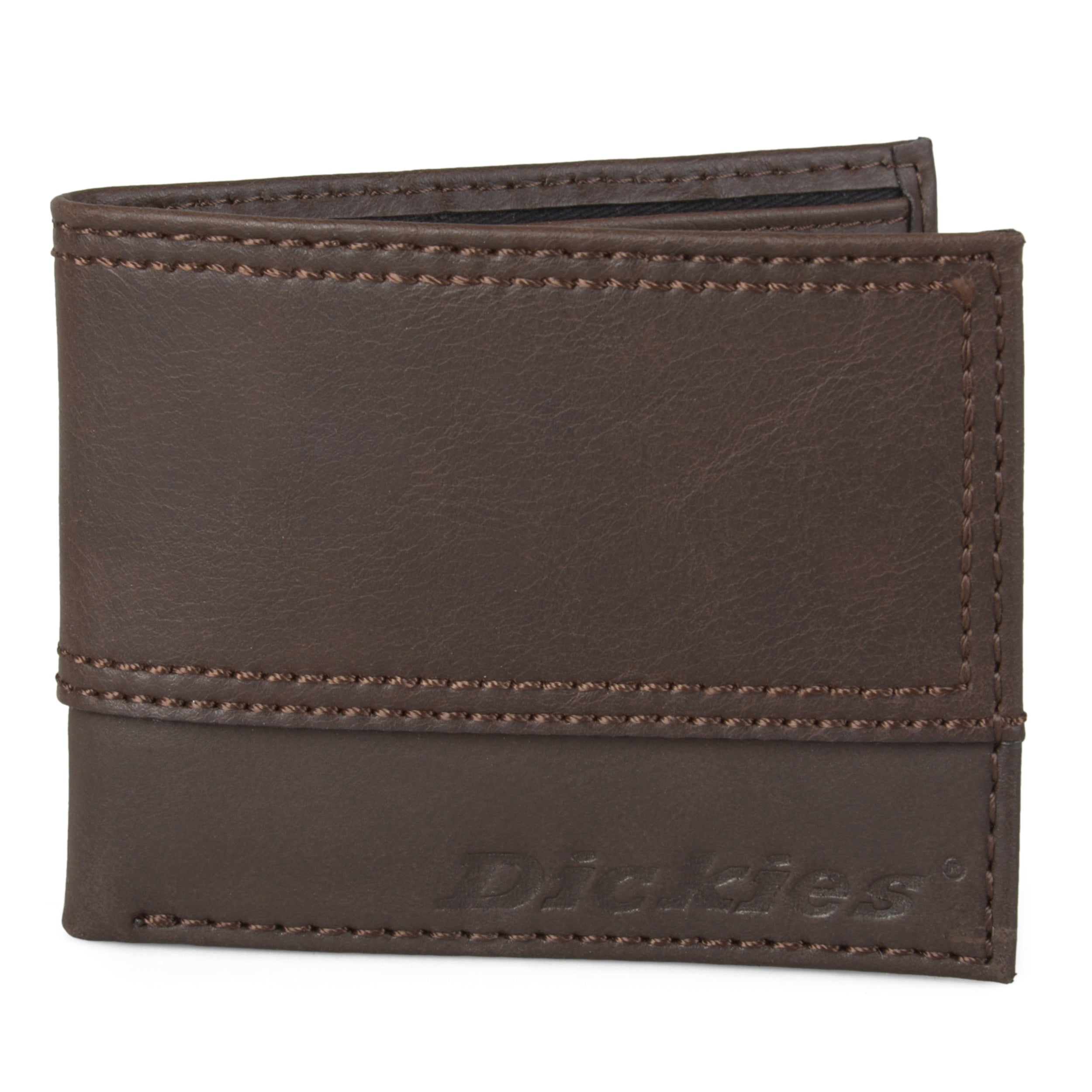 Dickies Leather Slim Wallet Brown