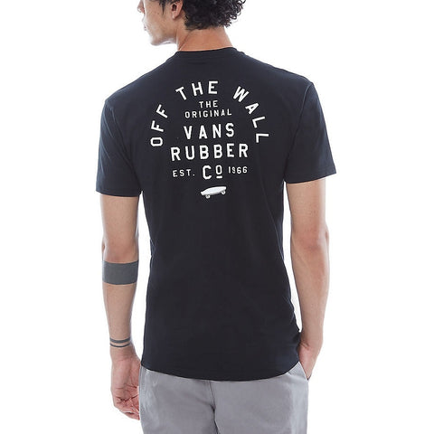 Vans Stacked Rubber SS Black Tee
