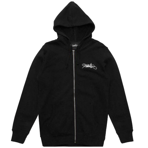 Materialism Logo Zip Hood Black