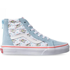 Vans SK8-HI Zip (Unicorn) Cool Blue/True White Youth Shoe