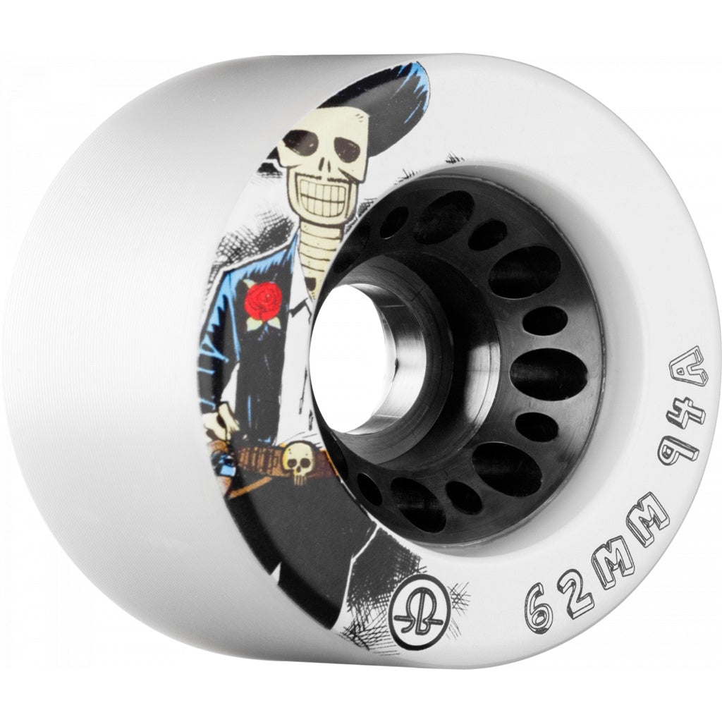 Rollerbones Wheels Speed Day of the Dead 62mm x 94A White 4 Pack