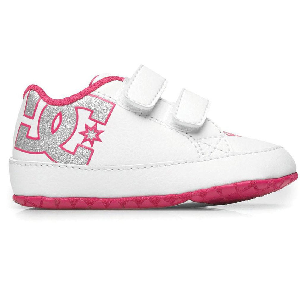 DC Court Graffik Toddler White/Pink