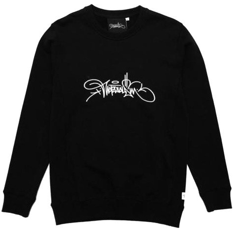 Materialism Logo Sweater Black