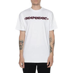 Independent Bar Cross Tee White