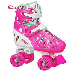RDS Trac Star Skate Pink Green  Adjustable Roller Skates