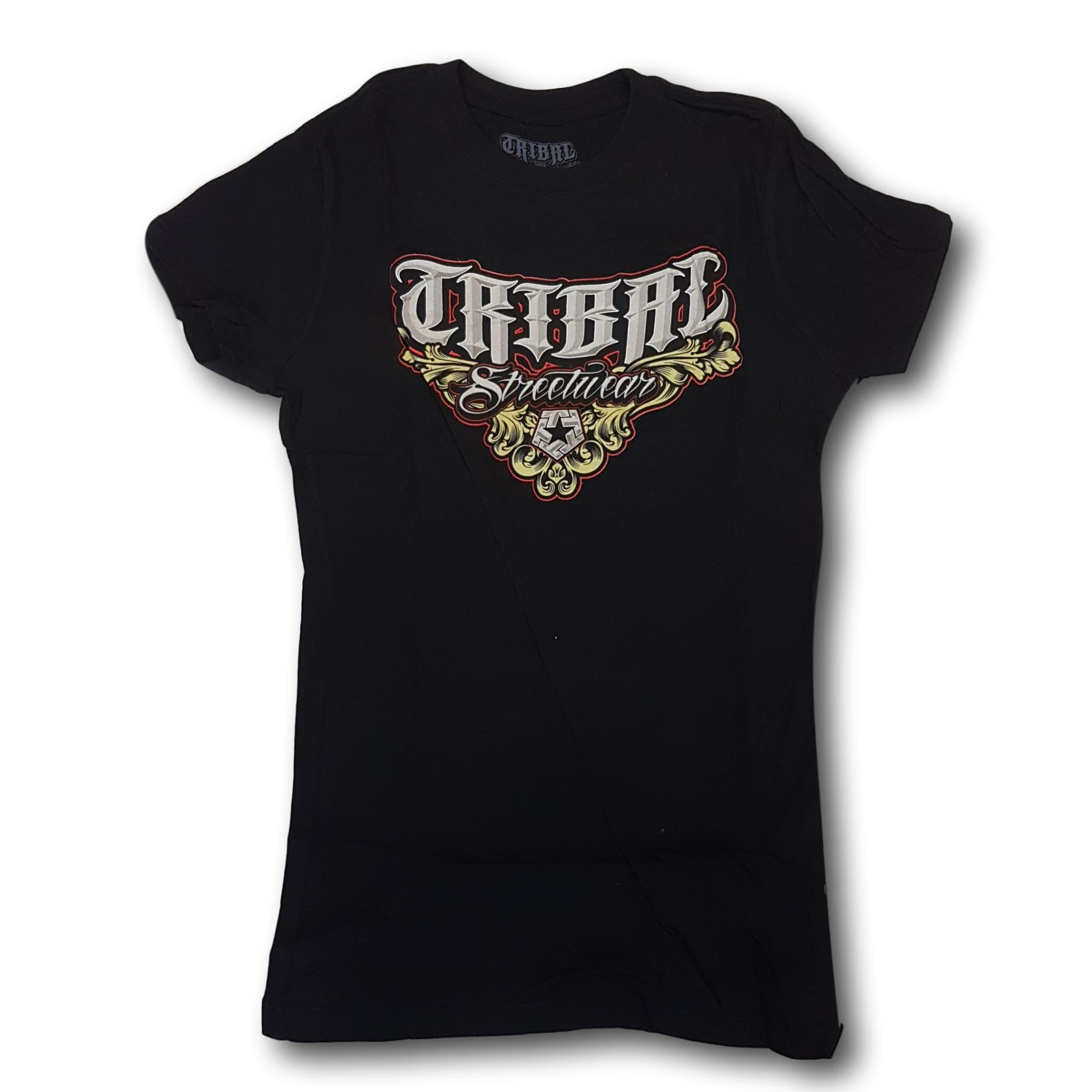 Tribal Bevel Womens Tee Black
