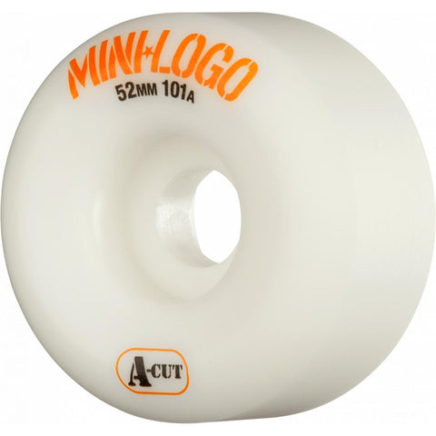 Mini Logo A-Cut 4 Pack Wheels White