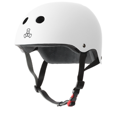 Triple 8 THE Certified Helmet SS White Rubber