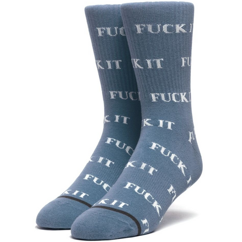 Huf F#@K It Sock Blue Mirage