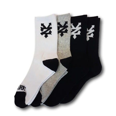 Zoo York Youth Captain Socks Assorted 4-Pack