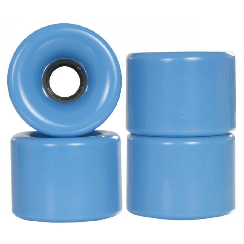 Powerslide Blank Blue Longboard Wheels 4 Pack