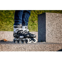 Powerslide Imperial One 80 Black w White Inline Skates