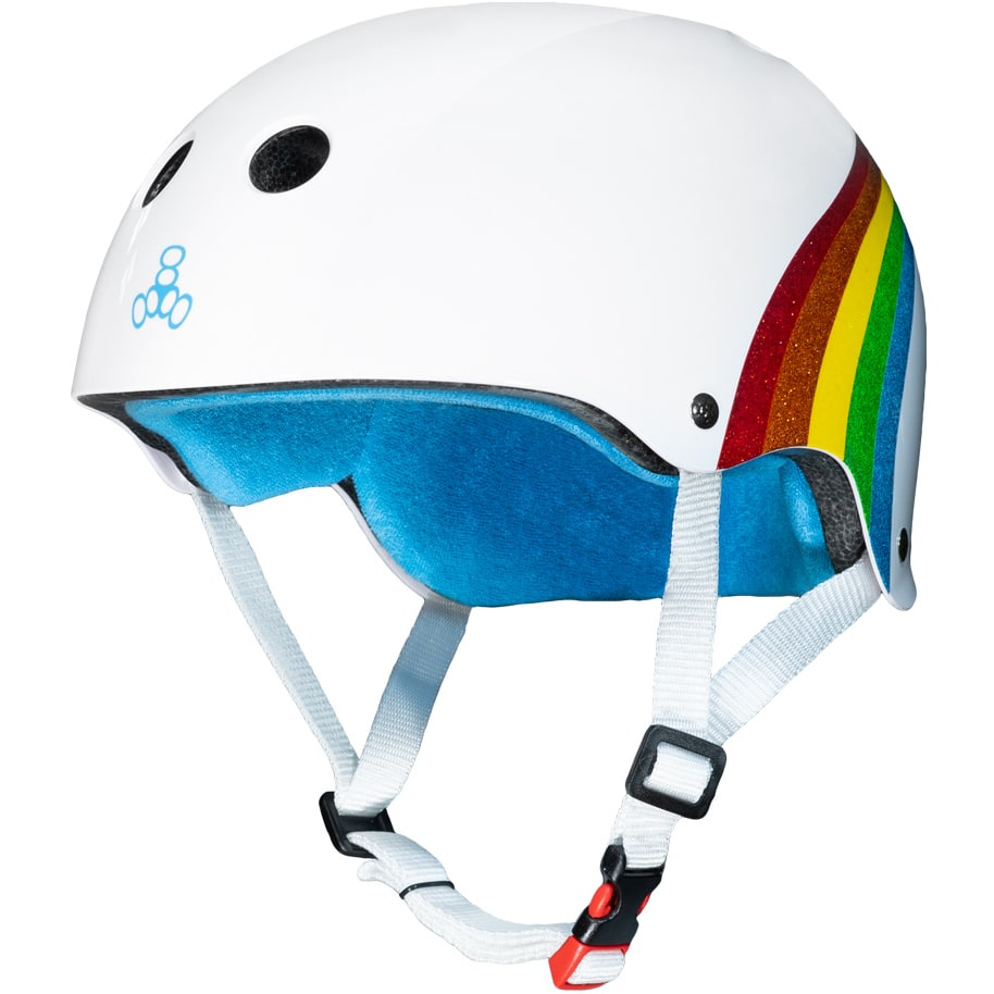 Triple 8 THE Certified Helmet SS Rainbow Sparkle White Limited Edition