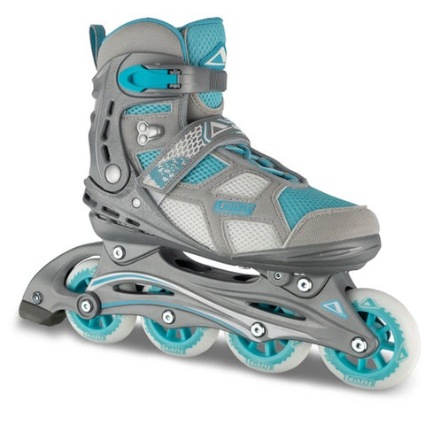 Crazy Skates Airlite Womens Inline Skates Teal/Silver
