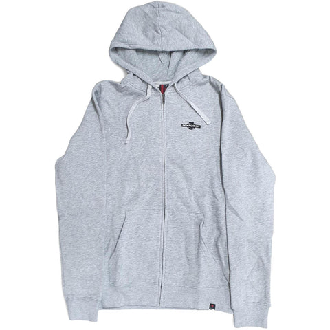 Independent Toil Zip Hoodie Grey Heather