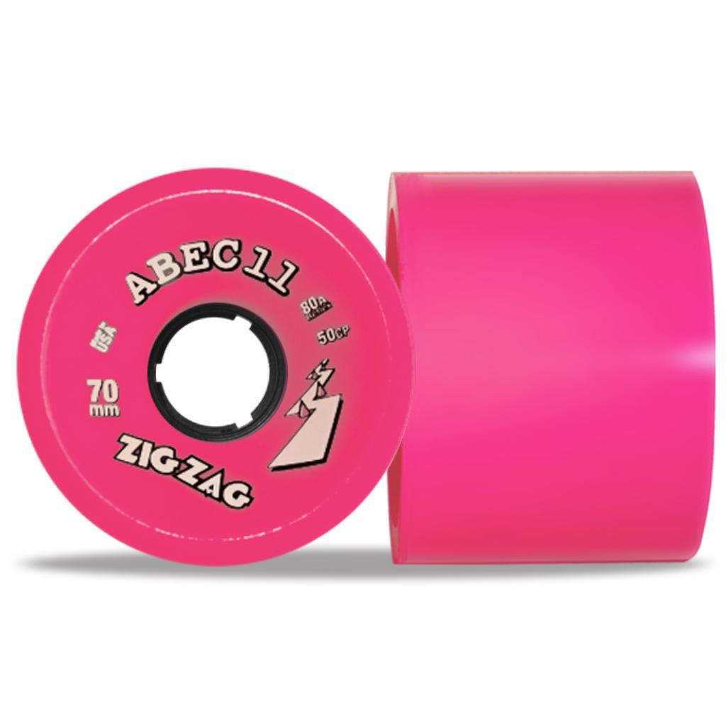 ABEC 11 Wheels Reflex ZigZag 70mm 77a Pink 4 Pack