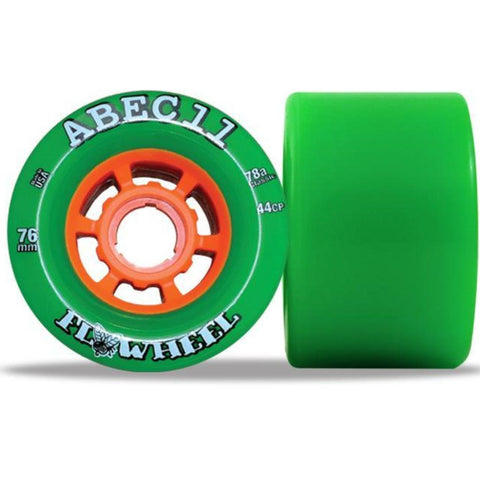 ABEC 11 Flywheel 76mm 78a Green 4 Pack