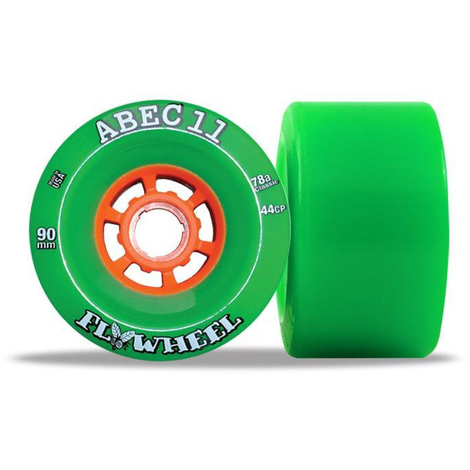 ABEC 11 Flywheel 90mm Green 4 Pack