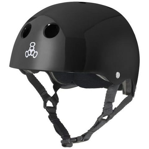 Triple 8 Skate Helmet STD Black Gloss