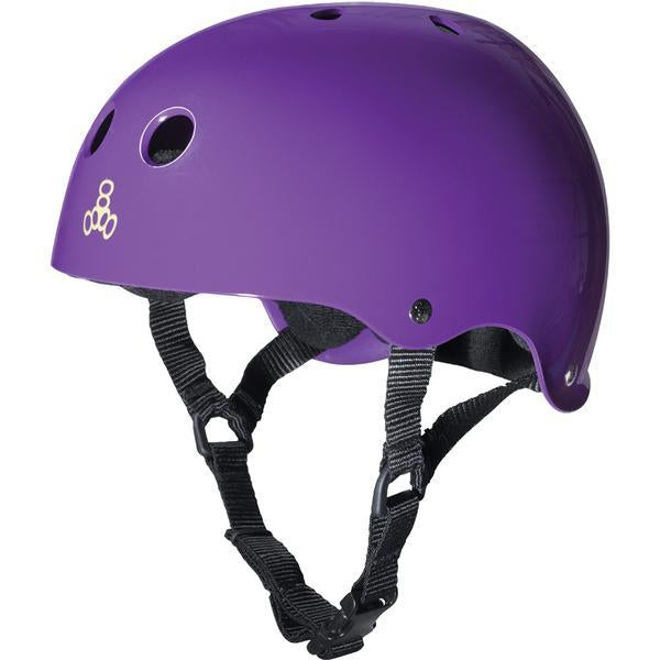 Triple 8 Skate Helmet SS Purple Rubber