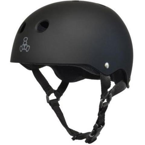 Triple 8 Skate Helmet SS All Black Rubber