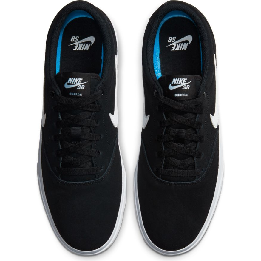 Nike SB Charge Suede Mens Shoe Black/White