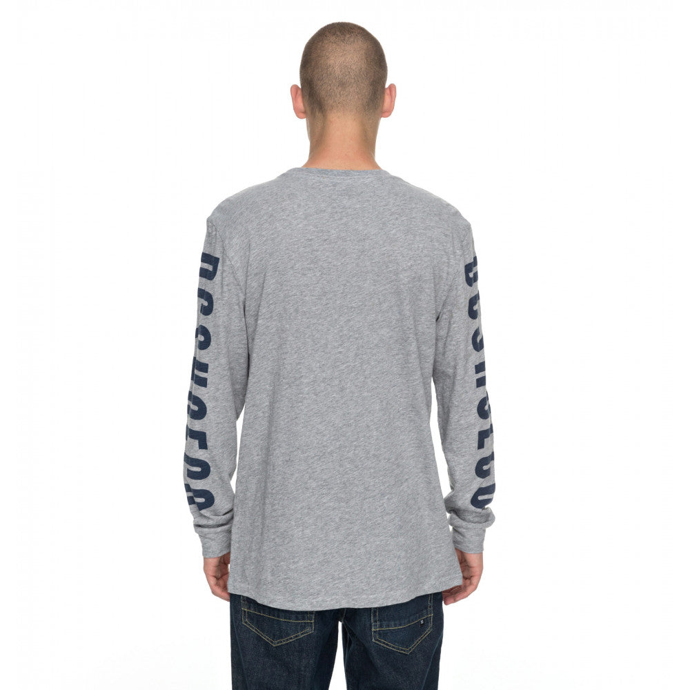 DC Square Side LS Tee Grey