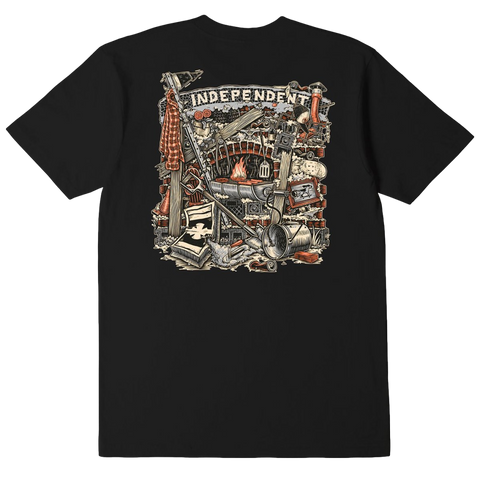 Independent Crust Tee Black