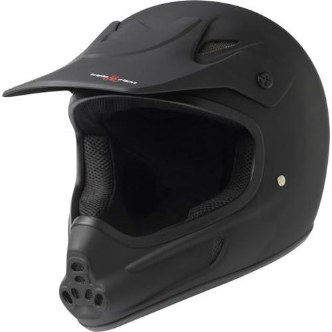 Triple 8 Invader Full Face Helmet Black Rubber