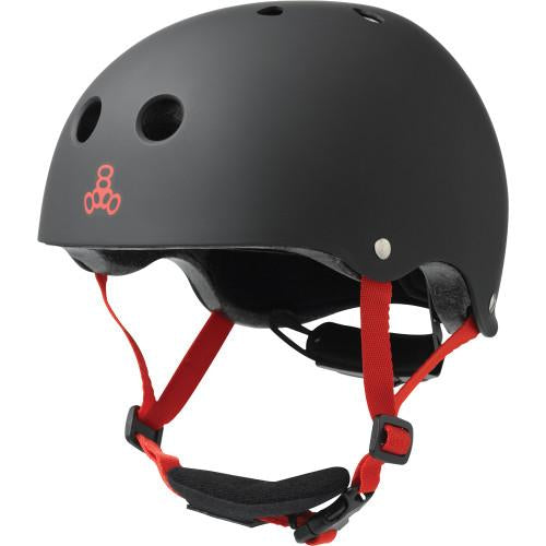 Triple 8 Lil 8 Certified Youth Helmet Black Rubber