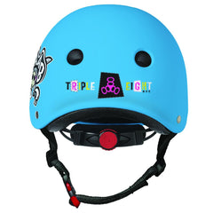 Triple 8 Lil 8 Certified Youth Staab Helmet Neon Blue Rubber