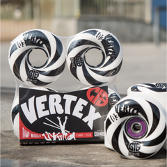 Reckless Wheels CIB Vertex 61mm 103a Black White 4 Pack