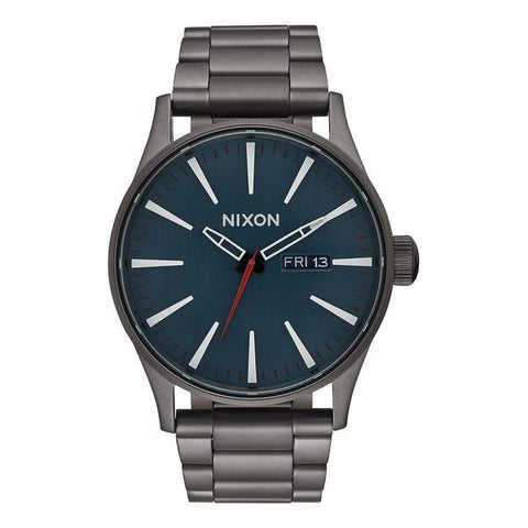 Nixon Sentry SS Watch All Gunmetal/Dark Blue