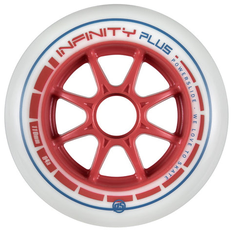 Powerslide Infinity Plus 110mm Wheels Red 6 Pack