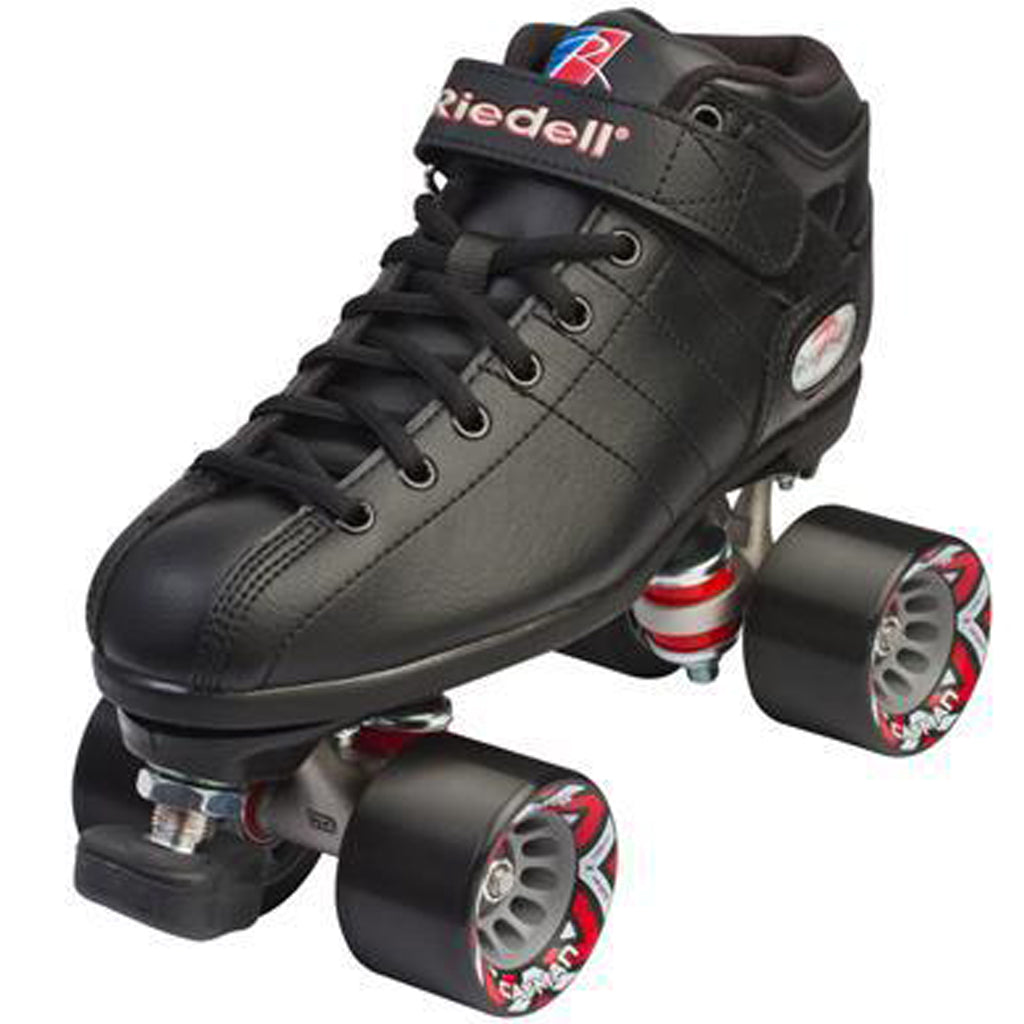 Riedell R3 Rollerskate Black (w Indoor speed Caymans)